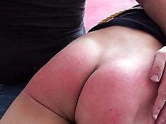 Spanked in bedroom good sound spanking mal