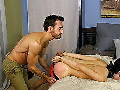 Masculine cute white guys gay with big...