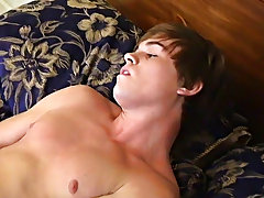 Even with the distracting cameras, pretty Ashton manages to cum on his stomach gay pics twinks - at Boy Feast!