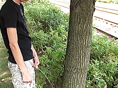 Outdor Peeing gay fuck and suck outdoor