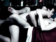 After things acquire sticky when the chaps cum, they receive bloody as Krys feeds asian gay first time - Gay Twinks Vampires Saga!