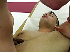 Grinding his pelvis into the boys ass Myles was groaning and moaning like a little bitch boy male anal orgasam