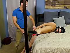 When Bryan Slater has a stressful day at work, this chab comes home and takes it out on his little slave boy, Kyler Moss 3 men gay hardcore at Bang Me