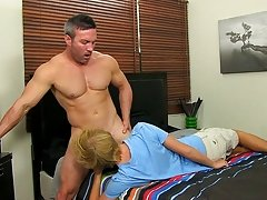 Belly torture masturbation at I'm Your Boy Toy
