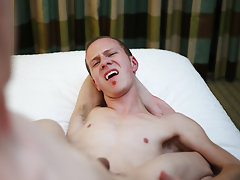 Young boy without hair and comes on dildo and puts it back in his ass - Gay Twinks Vampires Saga!