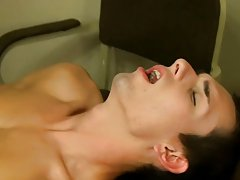 Wade fucks Jacobey on his feet before the two cum while he's laid out across the desk gay male twink blond at Teach Twinks