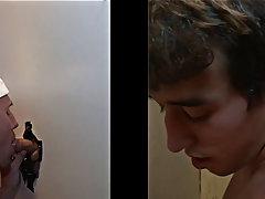 Young gays blowjob video and hot gay blowjob hung