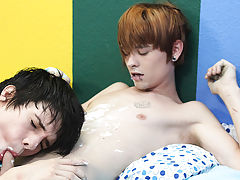 Kyler Moss surprises Miles Pride with a birthday cake and a couple of cute underwear gay twink anal video at Boy Crush!