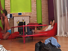 Married men masturbation groups and wild gay group sex at Crazy Party Boys