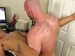 Pervy boss Mitch Vaughn finally digs up sufficiently leverage on fresh boy Spencer Williams to acquire him just where that guy desires him... naked