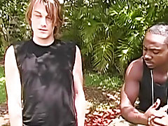 Interracial gay bareback breeding and...