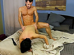 After fucking the cum out of Kyler, that guy gives him a facial previous to tucking him back into his closet for later gay hot hardcore sex at Bang Me
