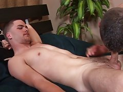 Going down deep, Jason ball-gagged as the dick brushed the back of his mouth but kept going.