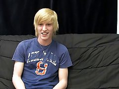 This new blonde stud gives a super sensual interview for his first BC vid gay twink porn at Boy Crush!