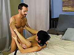 Once he's hard as a rock, Bryan lays into Kyler's ass, slamming his hole until the lad is wailing for more