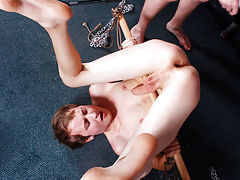 The nude boy shot cum during his spanking and uncut penis peeing - Boy Napped!