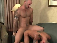 Gorgeous hunks shaved cocks jerk off and...