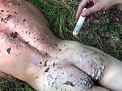 Bound and Waxed Friend hot men sex outdoors