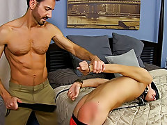 Young boy tube masturbation and army men peeing in their pants at Bang Me Sugar Daddy