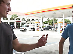 In this weeks out in public update...were off doing our thing me and the homie from california...so were hanging by the gas station and chap this guy