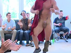 Group men sex and gay bj group at Sausage Party