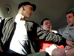 Hung Rugby Boy Used In The Back Seat