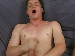 Andy touches himself while his mouth works his first black gay sex at Teach Twinks