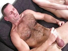 Gay guys kissing hairy at Staxus