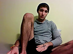 He shows off his long, exceedingly unshaved legs before whipping his dong out