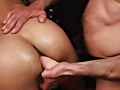 After taking off Igor's pants to reveal his tight ass and throbbing cock, Luca straightaway rubs the skin to have compassion for incline the smoo