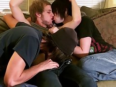 After the three of them kiss and engulf every other, Erik acquires fucked by Tristan during the time that moaning around Aron's 10-Pounder in his