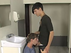 Twinks in makeup and twink boy fucking with female goat at Teach Twinks