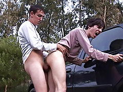 Gay men into outdoor sex with big dicks