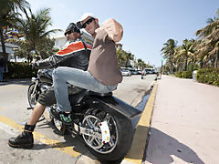 But after a little conversation about his motorcycle he agreed to take Danny for a ride and well you know the rest interracial gay videos