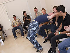 Group gay blowjob and male group nudity at Sausage Party