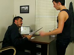 Hairy naked men cumming video at Teach Twinks