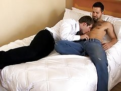 After stripping down and blowing each other, Preston straddles Tyler and sits on his cock free trailerof hairy nud at My Husband Is Gay