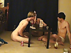 """ This is a long movie scene for you voyeur types who like the idea of watching these boys receive naked, drink, talk and play smutty games sexy"