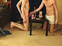 "Trace and William acquire together with their new ally Austin for the second installment of ""game night gay twinks first timers - at Boy Feast!"