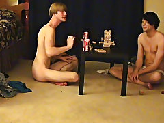 """Trace and William acquire together with their new ally Austin for the second installment of """"game night gay twinks first timers - at Boy Feast!"""