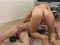 Clive sucked on Jakes cock gay twink annus