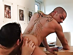 Tattooed, cunning looking stud Exilir is a real gladden to look at - still singular see him take cock bear male masturbating