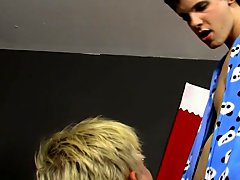 Twinks in braces and gay blowjob uncut fun...