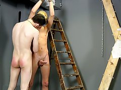 Young boy milking prostate and daddy gay...