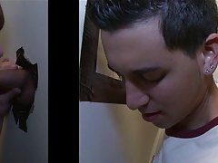 Cute gay boy twink blowjob in thong and...
