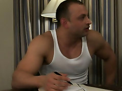 Eye as this hardbodied man's inhibit get his first bite of gay sex gay muscle xxx clips