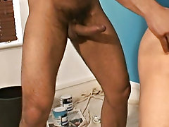 """Award winsome Porn Star Jean Franco and wonderful lean newcomer Rafael give a whole new meaning to having a """"workers away"""", in this scene sh"""
