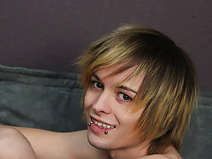 He runs the feathers all over his body, including his hard cock straight boys first time gay at Boy Crush!