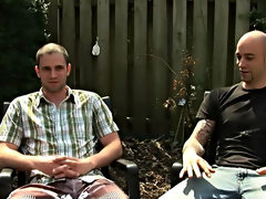 The guys have hired a gardner to clean up their backyard gay interracial gang bang
