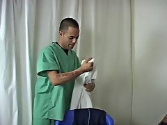 The Doc was getting hot, so he took turned his shirts to give him some basso-rilievo 'low relief' teen twink boys free